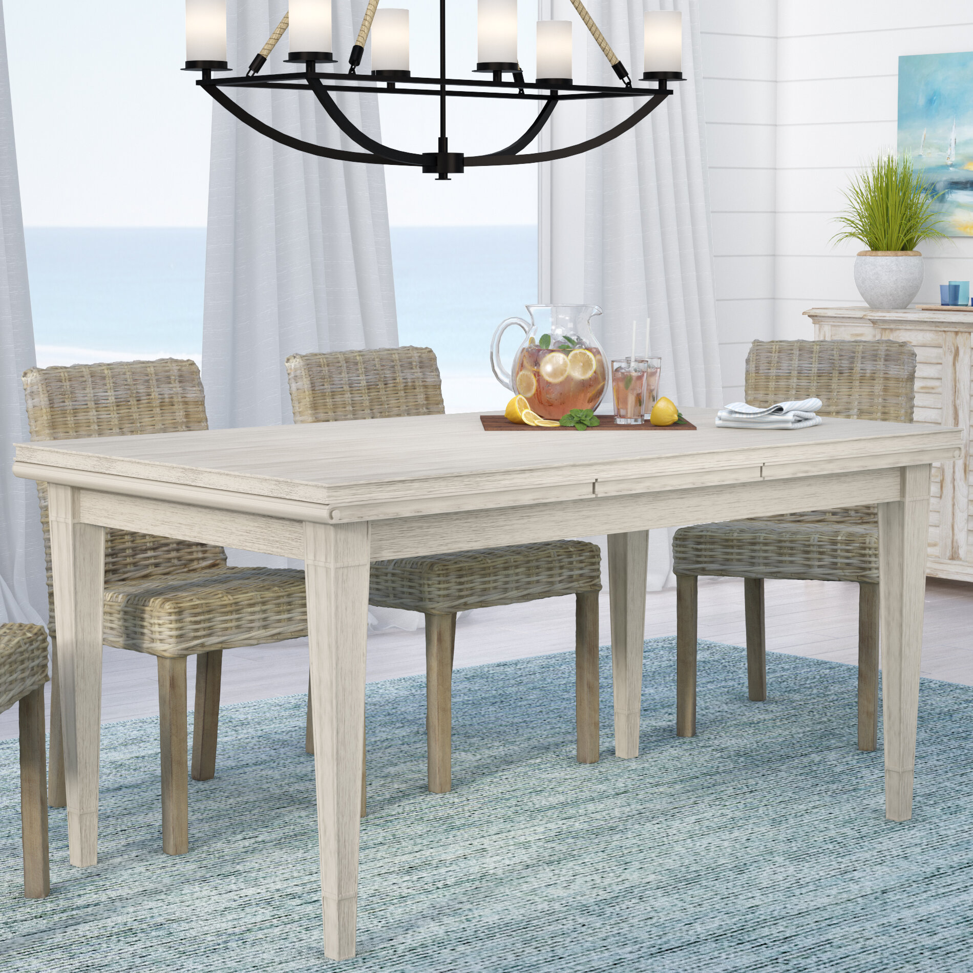 Beachcrest Home Gilboa Refectory Extendable Dining Table Reviews Wayfair