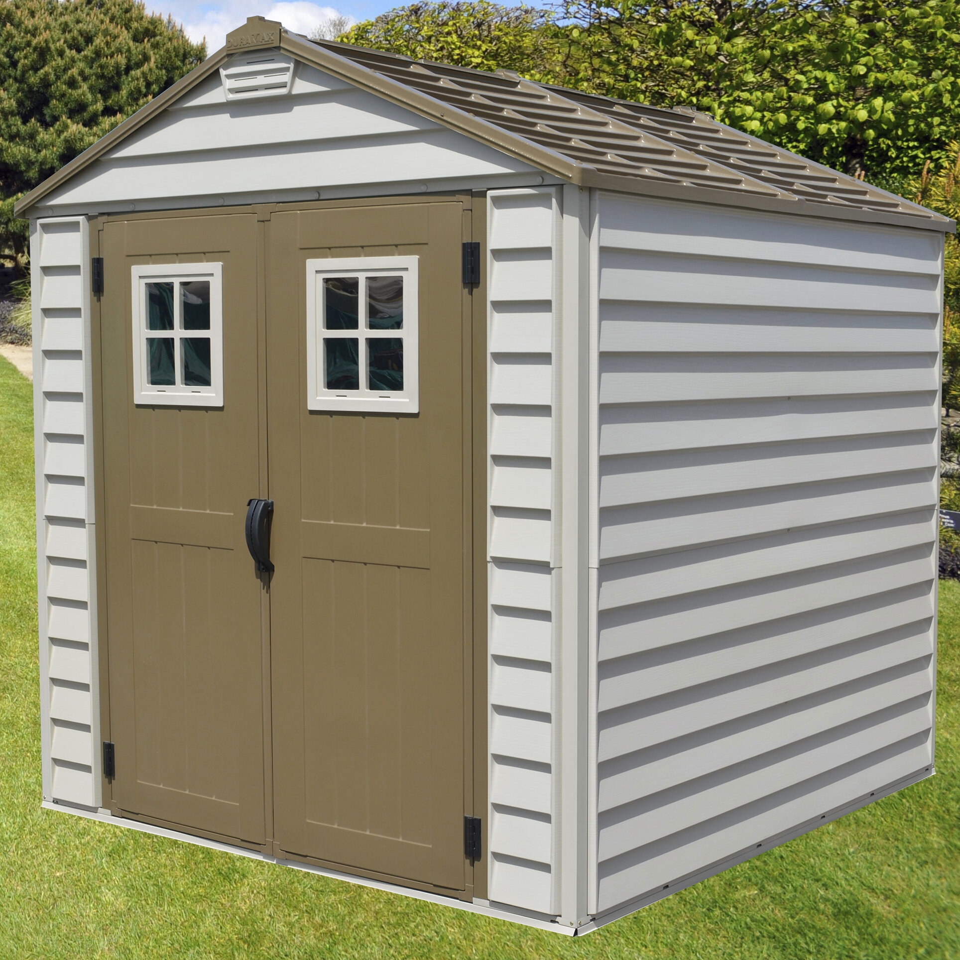 Duramax StoreMax 6 Ft. 9 In. W X 6 Ft. 10 In. D Plastic Storage Shed |  Wayfair