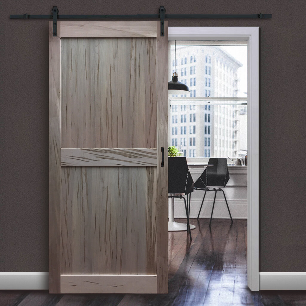 KIBY Solid Flush Wood Interior Barn Door U0026 Reviews | Wayfair