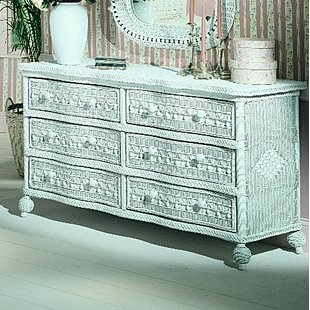 August Grove Classic 6 Drawer Double Dresser