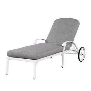 Home Styles Floral Blossom Chaise Lounge Chair with Cushion