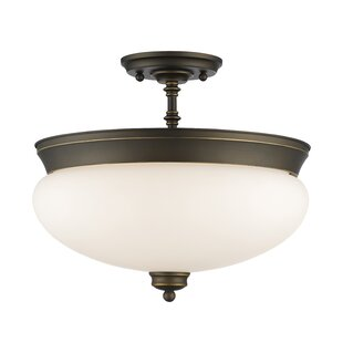 Darby Home Co Casselman 3-Light Bowl Semi Flush Mount