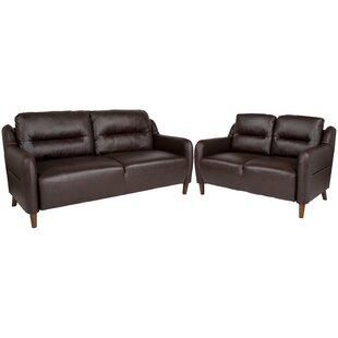 Velazquez Upholstered Bustle Back 2 Piece Living Room Set by Ebern Designs