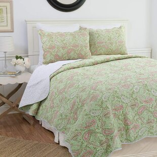 Mercuri Paisley Cotton Reversible Quilt Set