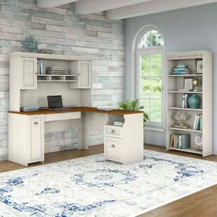 Oakridge Desk with Hutch and Bookcase Set by Beachcrest Home