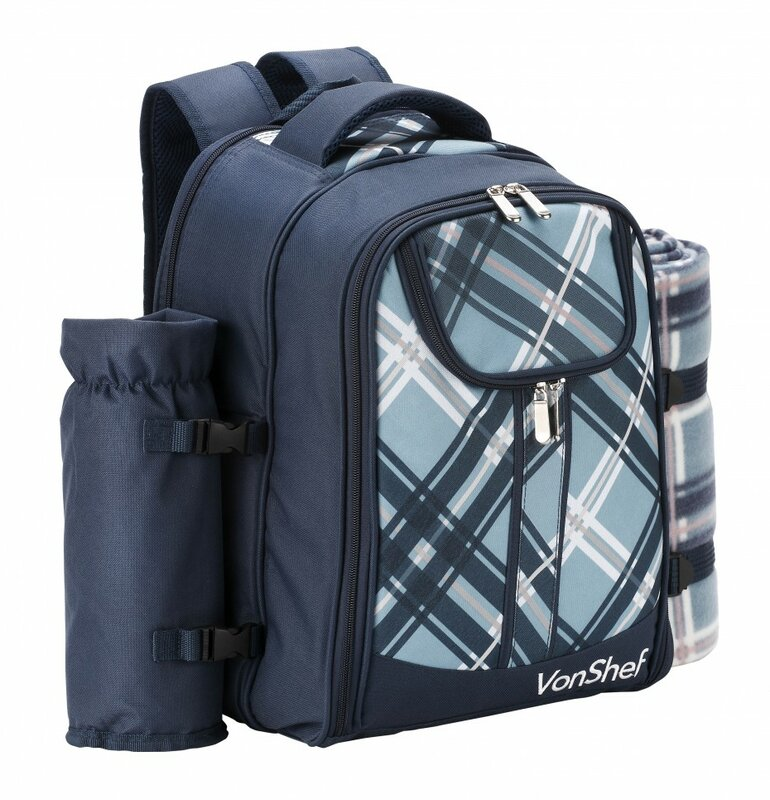 Vonshef Person Picnic Backpack With Cooler Compartment Reviews