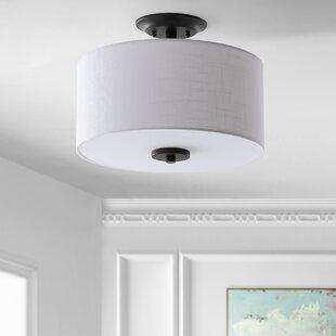 Winterton 2-Light Semi Flush Mount by Wrought Studio