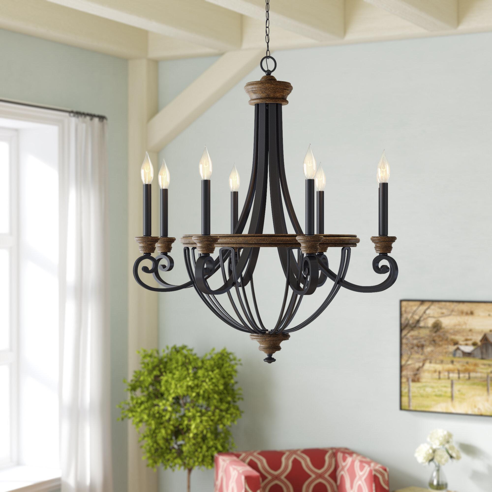 Laurel foundry modern farmhouse nanteuil 8 light empire chandelier reviews wayfair