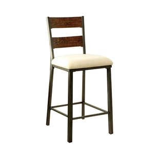 Carolos Industrial Solid Wood Dining Chair (Set of 2) by 17 Stories