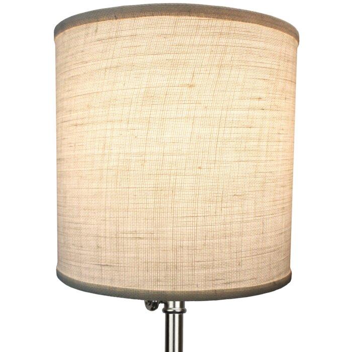 Fenchel shades 12 burlap drum lamp shade reviews wayfair 12 burlap drum lamp shade aloadofball Choice Image