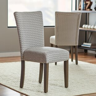 Wrought Studio Riddle Upholstered Dining Chair (Set of 2)