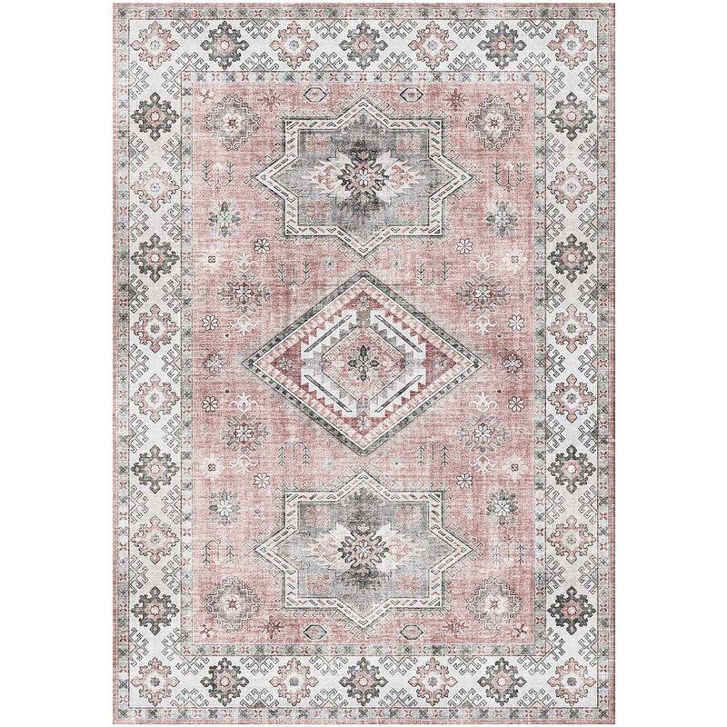 Mercury Row Alchiba Flatweave Grey Pink