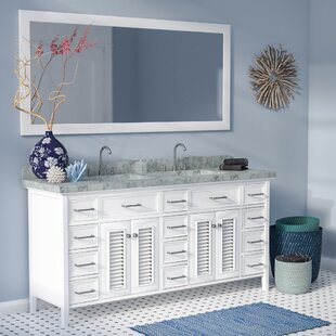Read Reviews Hamil 73 Double Bathroom Vanity Set with Mirror ByHighland Dunes