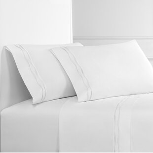 Wavy Drakeford Embroidered 300 Thread Count Percale Sheet Set
