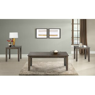 Laurel Foundry Modern Farmhouse Dearing Occasional 3 Piece Coffee Table Set