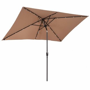 Karam 2.9m X 1.9m Rectangular Traditional Parasol By Sol 72 Outdoor