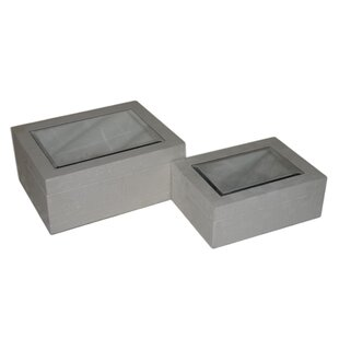 Price comparison 2 Piece Wood Box Set By Cheungs