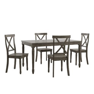 Butte Reclaimed Wood 5 Piece Dining Set Alcott Hill