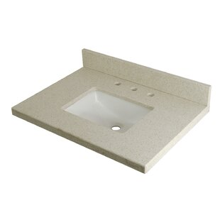 Quartz 30 Single Bathroom Vanity Top By Kingston Brass