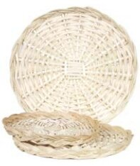 Gerold Round Willow Accent Tray by Highland Dunes