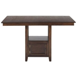 Cian Counter Height Solid Wood Dining Table by Charlton Home