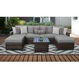 Klingbeil Wicker/Rattan 6 - Person Seating Group with Cushions