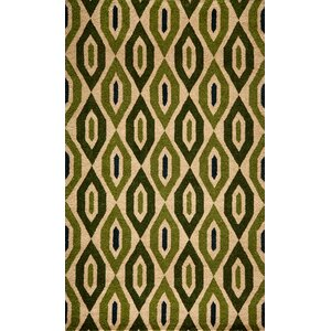 Elvera Hand-Tufted Green Area Rug