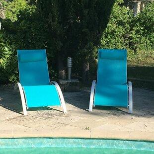 Charlton Home Kelston Mills Elegant Reclining Adjustable Chaise Lounge (Set of 2)