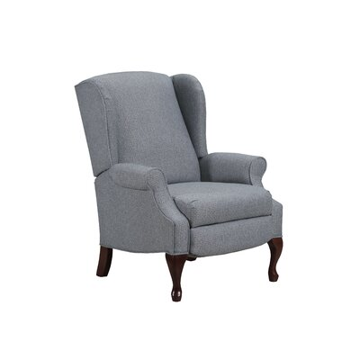 August Grove Manual Recliner Upholstery Color: Glenrock Sky by August Grove