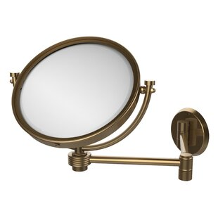 Allied Brass Extend 5X Magnification Wall Mirror with Groovy Detail