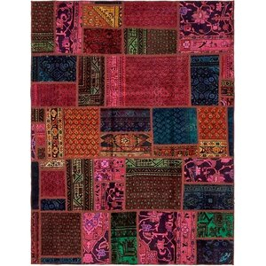 Sela Vintage Persian Hand Woven Wool Pink/Red Area Rug