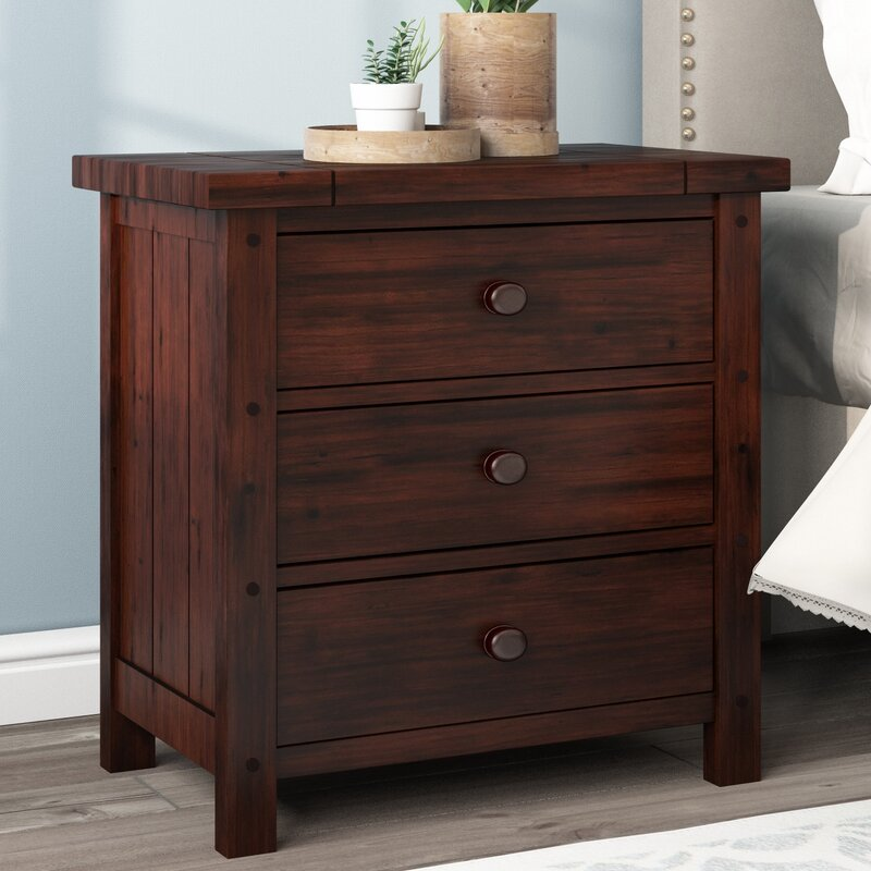 Winchester 3 drawer nightstand reviews birch lane for Winchester bedroom furniture