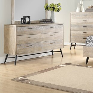 Brayden Studio Laquita 6 Drawer Double Dresser