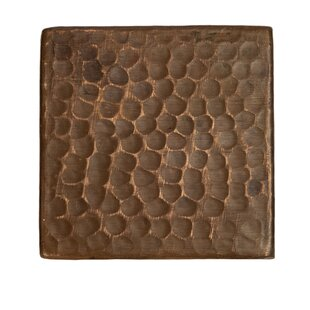 3 X Hammered Copper Tile In Oil Rubbed Bronze Set Of 8