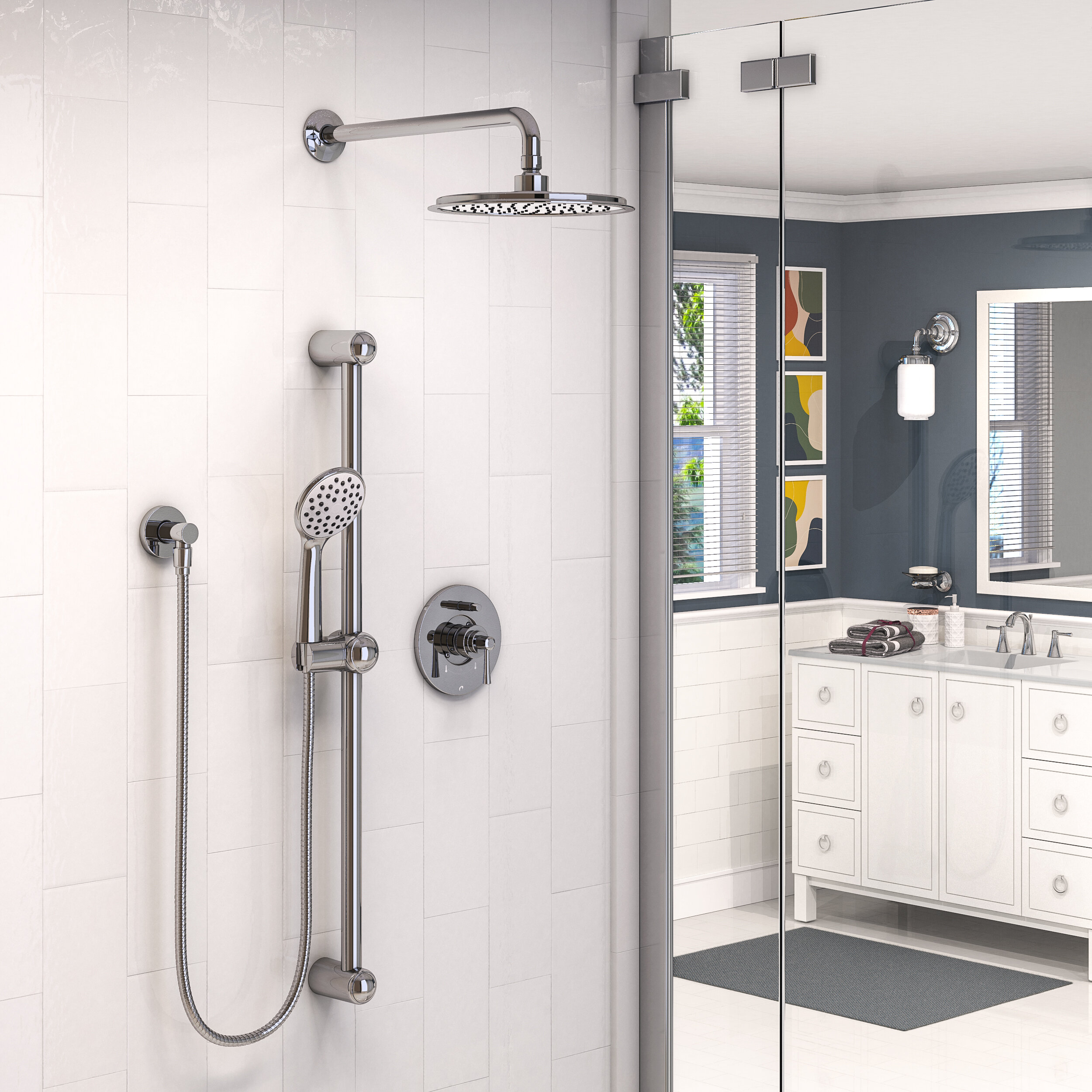 Keeney Manufacturing Company Belanger Pressure Balanced Complete Shower System With Rough In Valve Reviews Wayfair