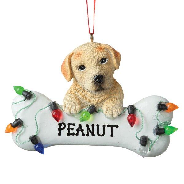 The Holiday Aisle Lab Dog Bone Personalized Hanging Figurine Ornament Wayfair