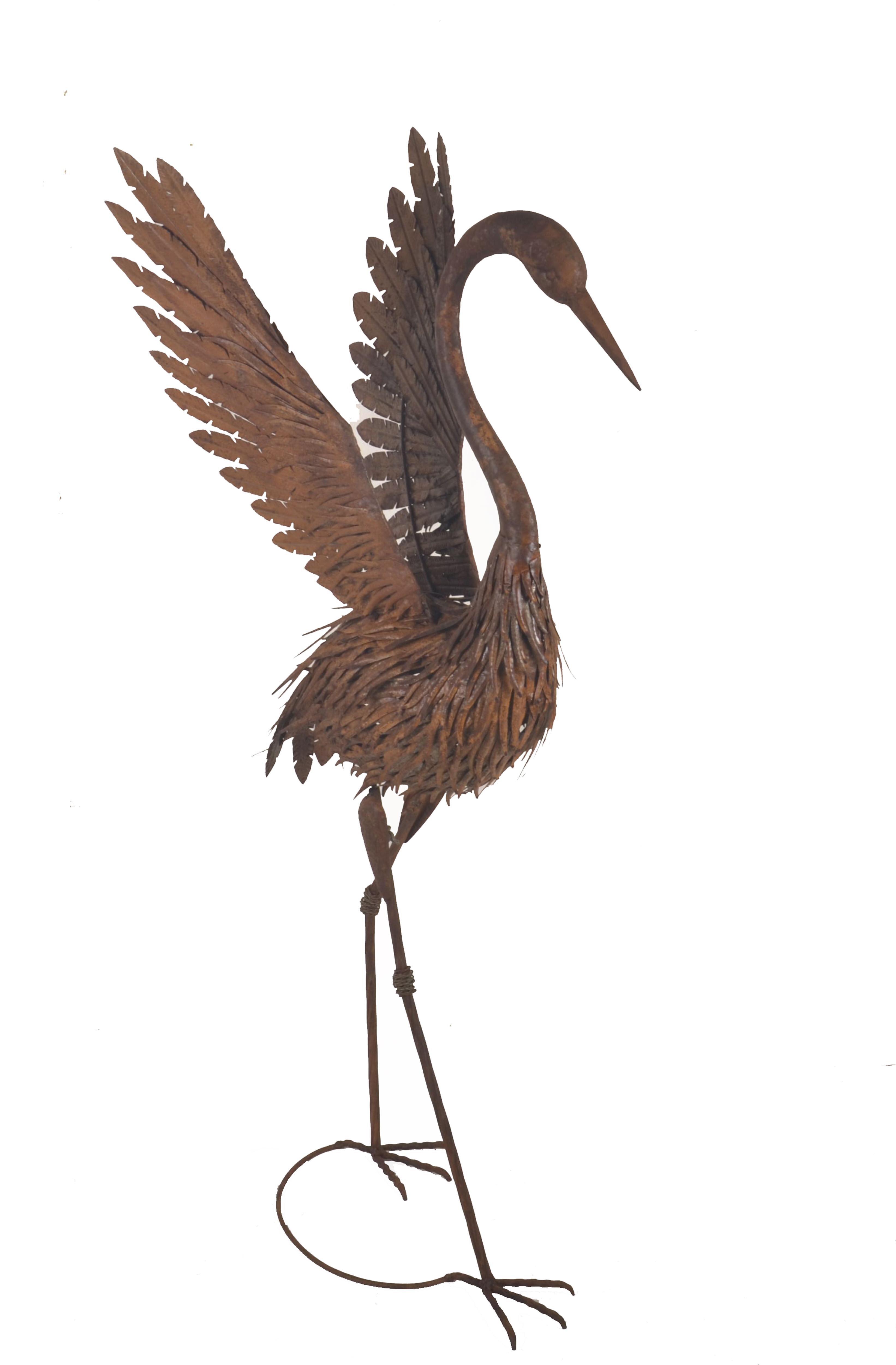 Bronze Crane Statues | Wayfair
