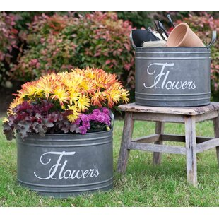 Compare prices Metal 2 Piece Bin Set By August Grove