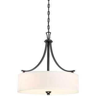 Reviews Stockton 3-Light Drum Chandelier By Alcott Hill