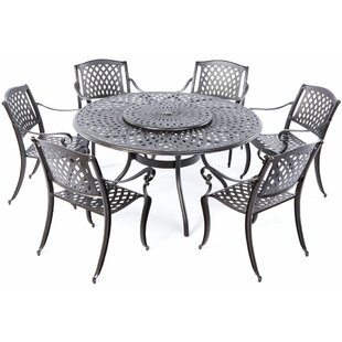 Darby Home Co Quince 7 Piece Dining Set with Lazy Susan
