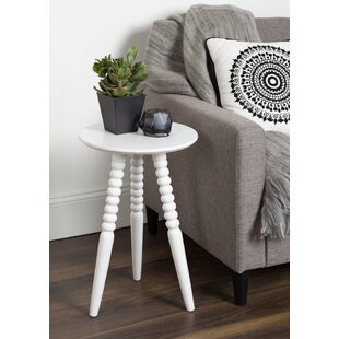 Martha Solid Wood Bobbin Leg End Table