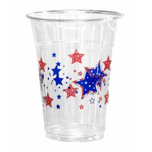 Patriotic Stars Plastic Disposable Cup (Set of 50)