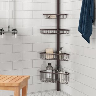 Aluminium Storage Rack Bathroom Shower Bath Holder For Shampoos Shower Gel Kitchen Home Balcony Shelf Hanging Rack Hook Home Improvement