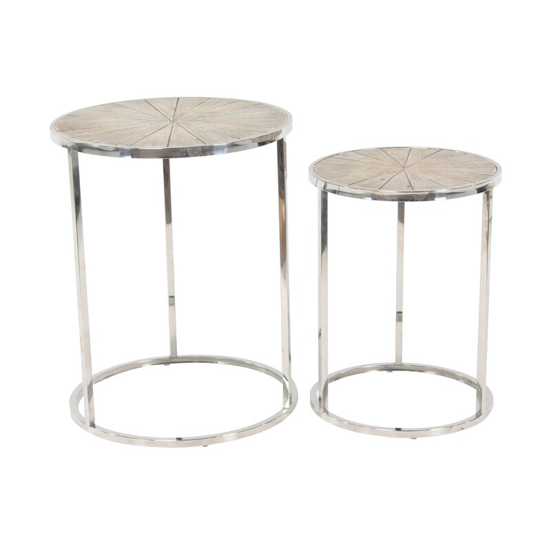 Stokely Rustic Round Nesting Tables
