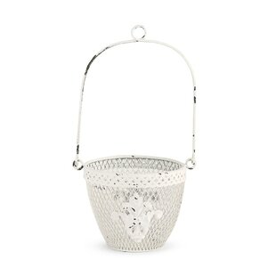 Kailey Metal Hanging Basket By Lily Manor