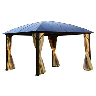 Hardtop 12 Ft. W x 12 Ft. D Aluminum Party Tent Gazebo by ALEKO