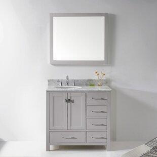 Serigne 35 Single Bathroom Vanity Set with Mirror By Willa Arlo Interiors