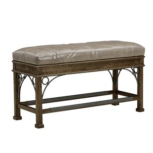 Nicky Leather Bench by Canora Grey