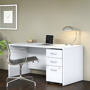 Bush Business Furniture Studio C 3 Piece U-Shaped Desk Office Suite