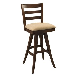 Ines Low Back Swivel Bar Stool Red Barrel Studio